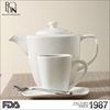 New design fashion tea cup set white china restaurant ceramic mug coffee porcelain mug with saucer teapot