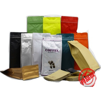 Customized Printed Aluminum Foil Side Gusset Coffee Bags With Valve