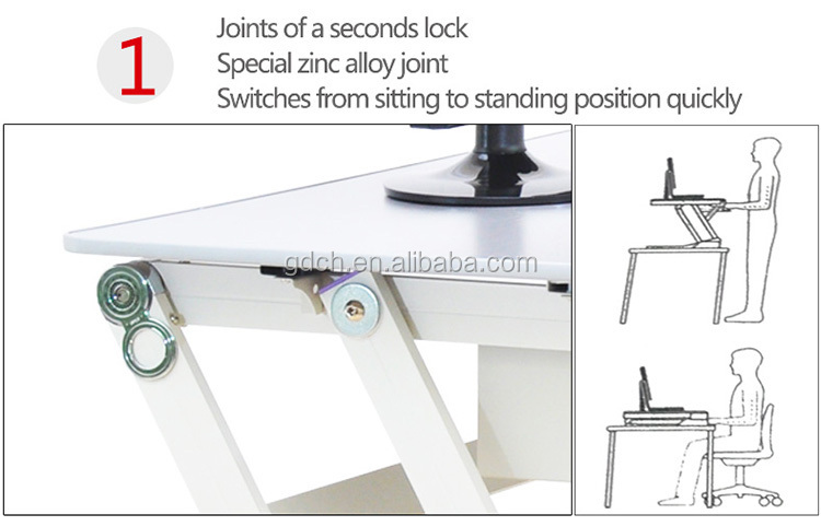 Factory wholesale adjustable portable laptop sit stand table