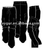 Mens cargo pants with side pocket