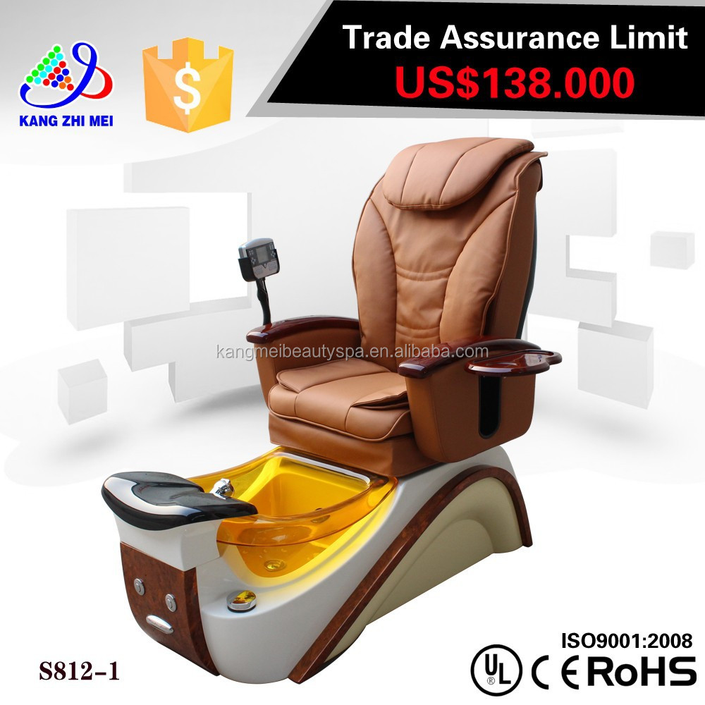 Luxury foot spa massage pedicure chair with led remote/custom pedicure chairs/pedicure chair faucet KM-S812