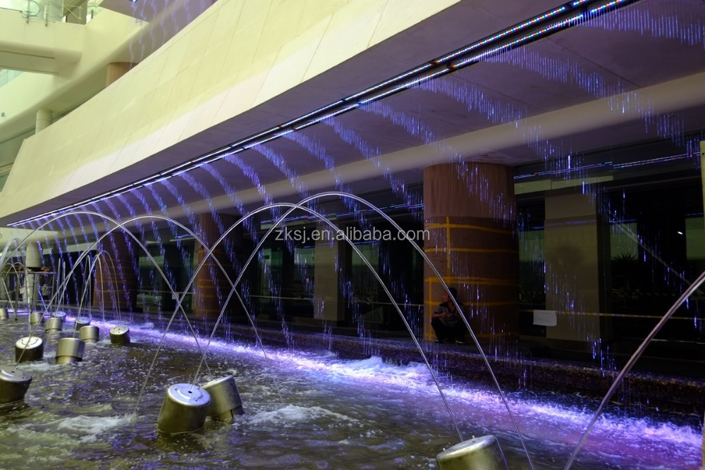 Outdoor 3D digital 304 stainless steel music water screen movie performance fountain