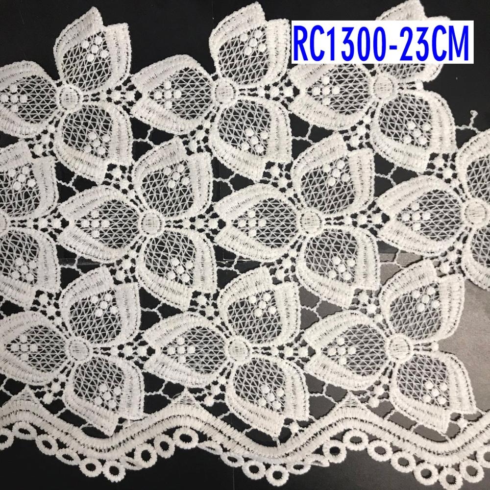 100% polyester high quality lace trim dresses guipure lace trim
