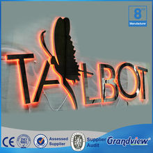 Outdoor 3D led backlight decorative metal letters