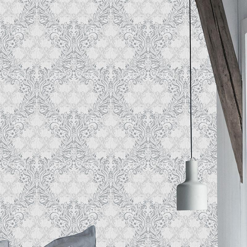 Grey Damask Luxury European Designer Pvc Vinyl Wallpaper Buy Grey Damask Wallpaper Luxury