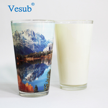 Wholesale Prices Blank 17oz Cone Shape Stackable Sublimation Clear Glass Coffee Mug For Sublimation