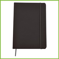 PU cover with 80 sheets lined paper Black PU Notebook