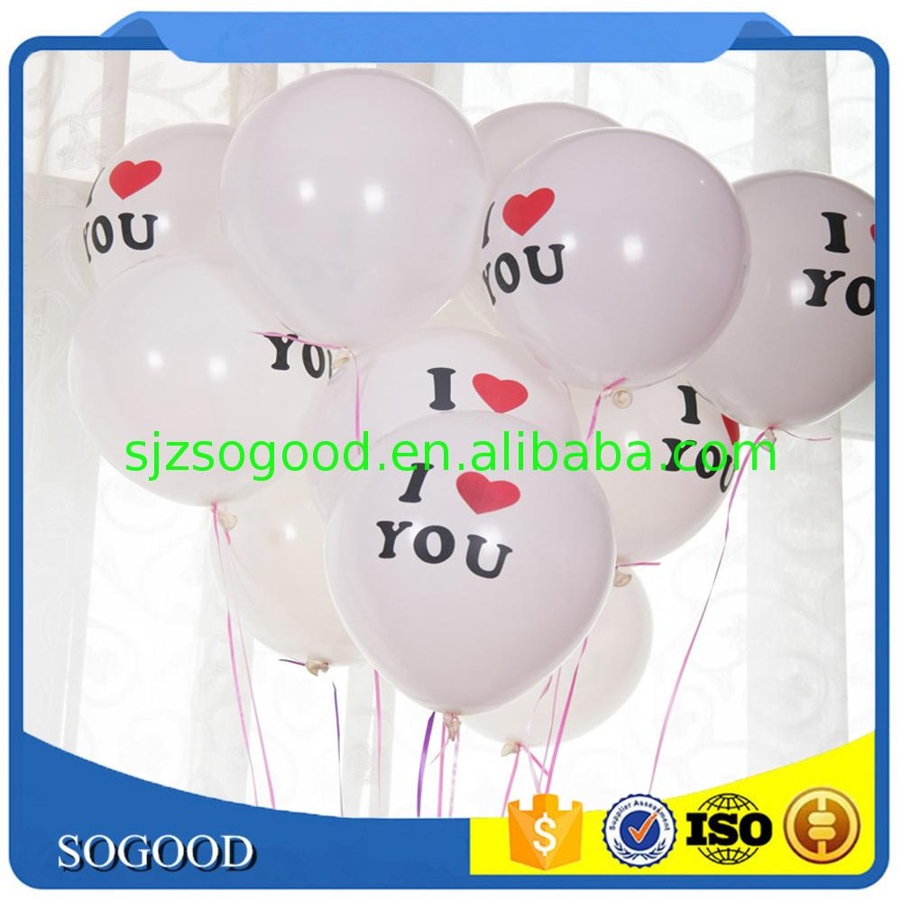 Customized Professional Good price of 2016 new product balloon &amp machine to printed on for party decorate
