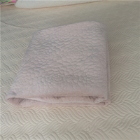 plain color luxury flower embroidery bed cover short plush blanket velvet blanket