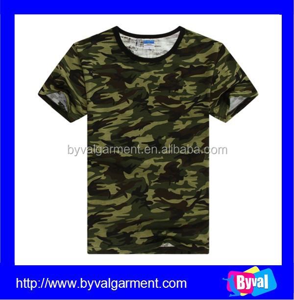 Wholesale Military Camouflage T Shirt Men Custom