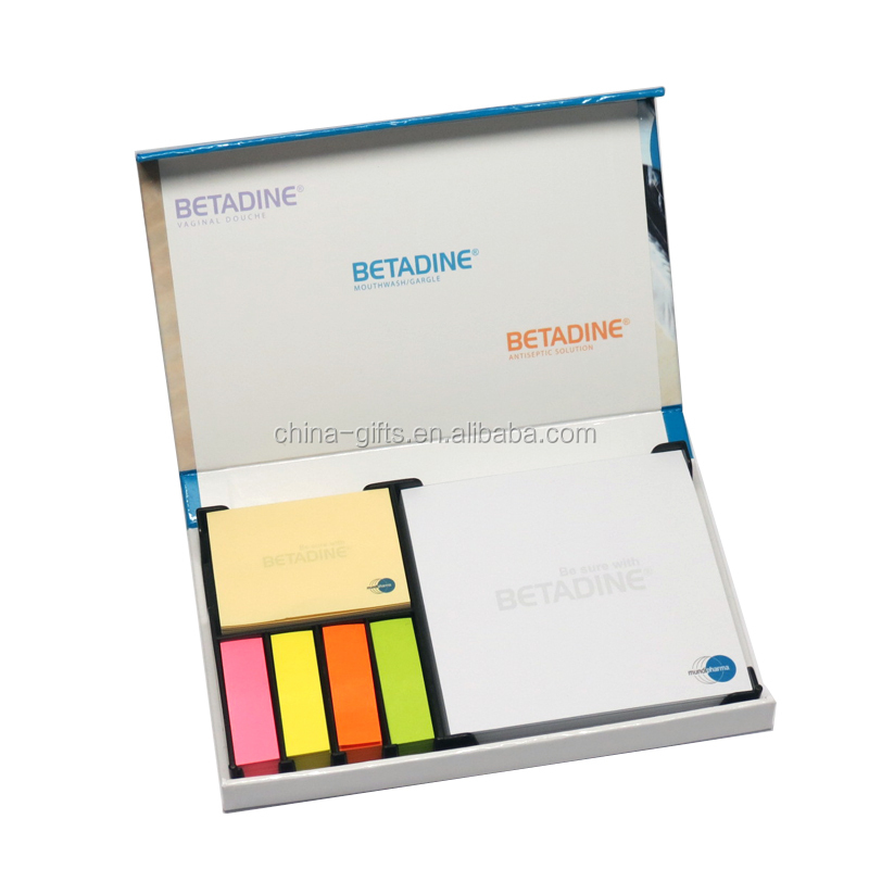 memo box with sticky and memo and color index