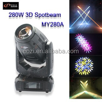 Guangzhou Factory Sales Spot Wash Beam 280W 3-in1 3D Sharpy Moving Head stage light for Wedding concert show night club bar