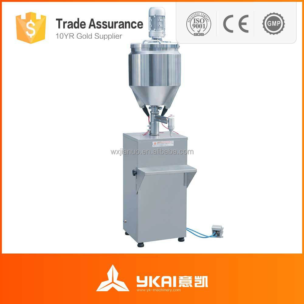GS-1 Low cost electric/pneumatic filling and sealing machine, cream/liquid filling and sealing machine