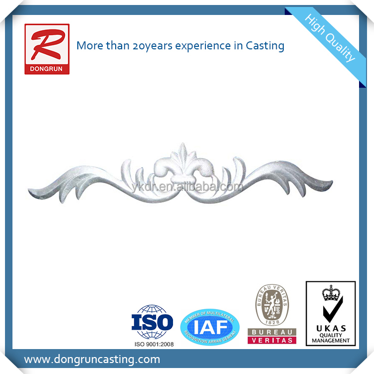 Aluminum foundry supply sand casting decorative parts for furniture and construction
