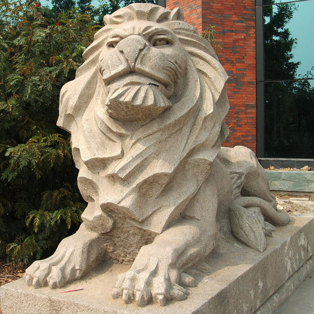 Garden Stone Lion Sculpture Statue Buy Lion Sculpture