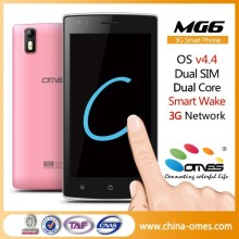 Quick Wake Gesturel ! MG6 5 inch IPS Dual Core 5MP android 4.4 Dual Sim 3G no brand Android phone