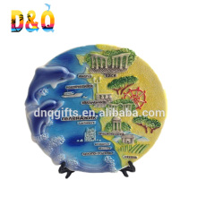 Best selling decoration ceramic plates souvenir Italy plate