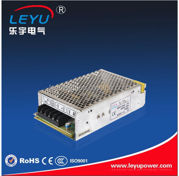 High frequency 12v single output switching power supply S-75-12 6.3A 75W with LED light