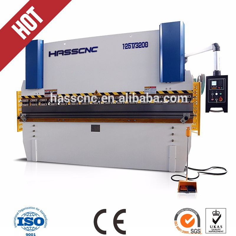 China Hass 63T small sheet metal press brake tooling gooseneck punches press brake with safety instructions work support arms