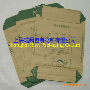 falt bottom kraft paper 25kg bag for packing cement