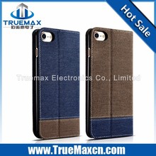 Factory price supply high quality cowboy leather case for iPhone 7