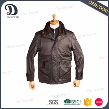 Widely man custom bomber jacket with formal turn-fown collar with fur