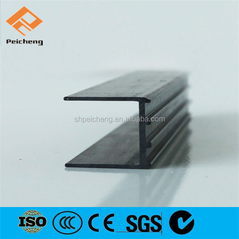 Plastic U shaped Edge Strip, PVC Profile for Windows and Doors