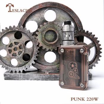Teslacigs Punk 220w vapor kit black/antique brass/antique copper/rainbow color available Teslacigs punk 220w