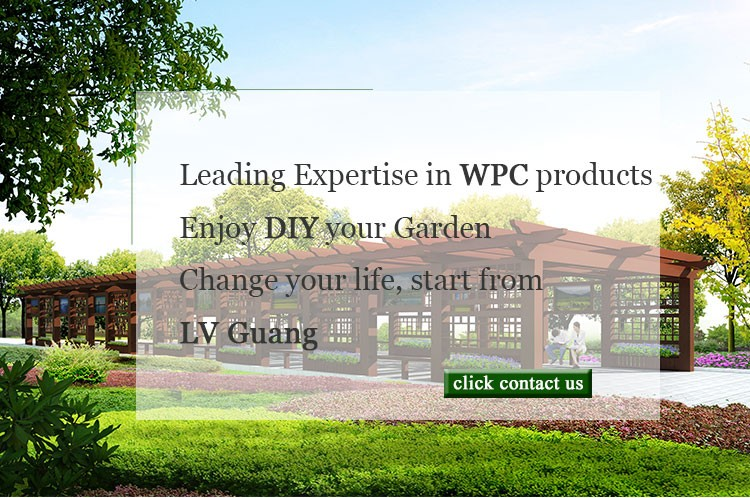 Non poisonous Long use life ecological wood plastic composite wpc pergola
