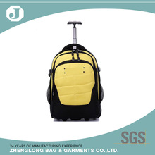 2016 wholesale brand name travel backpack with wheels