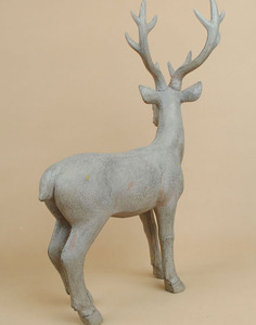 Wood big size resin deer for Christmas decoration wholesale 13021