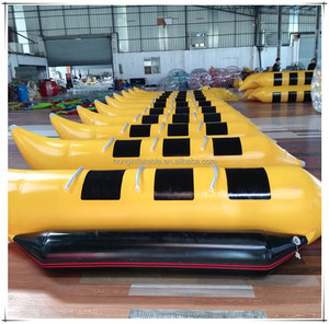 hot sale summer inflatable flyfish rib banana boat, inflatable flying manta ray for playing