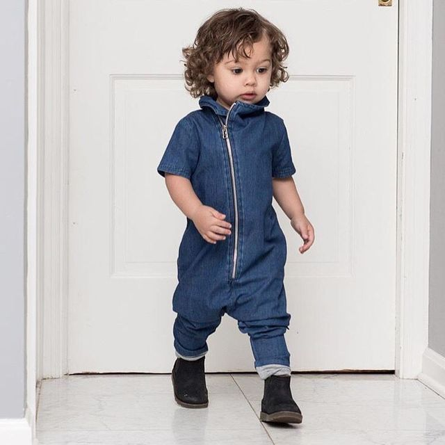 2017 fashion baby clothing one piece jumpsuit toddler boys denim bodysuits long pants jeans romper