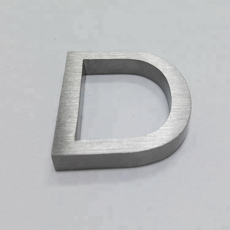 Laser Cut Custom English Letters Brushed Metal Number <strong>Sign</strong> Made To Order Wholesale