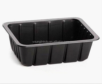 High quality customized PET black blister plastic food tray