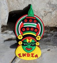 Best selling for TOURIST SOUVENIR Rubber FRIDGE MAGNET India Customized magnetic car logo stickers ---DH21243