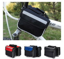 Mountain Bike Cycling Front Tube Double Sides Saddle Bag Package Mobile Phone Key Case Pack Pouch
