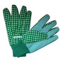 Cotton with dots on palm garden gloves factory