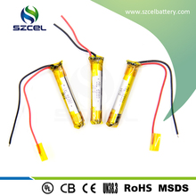 3.7v li-polymer battery/SZCEL/3.7v 90mah li-polymer battery for bluetooth headset