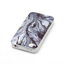 popular 2017 Wear-resisting tpu back case cover with Marble for 4s