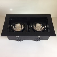 2 head cob chip ceiling mound downlight double head 2*7.5W cob surface mounted grille downlight