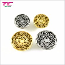 Newest Styles Hollow Out Logo Metal Jeans Buttons Cover Custom Jeans Buttons From Activity Supplier in China