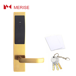 Advanced hotel card key hook bolt electric door lock system