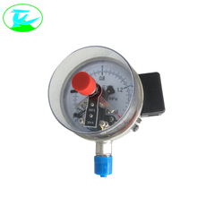 Mini wall mounted electric contact turbo pressure gauge