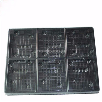 Custom PS Plastic Electronic Components Frosted Blister Tray Lining