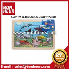New Novelty Toy 48Pcs Wooden Sea Life Jigsaw Puzzle