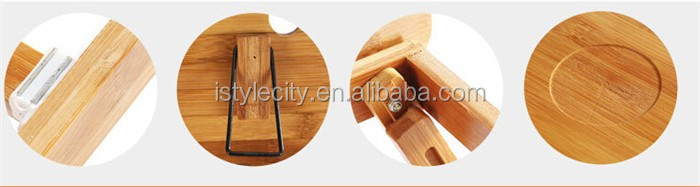 Bamboo Laptop table laptop stand adjustable