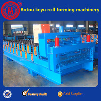 Glazed Tile And Wave Double Roofing Sheet Making Machine Cold Roll Foring machine