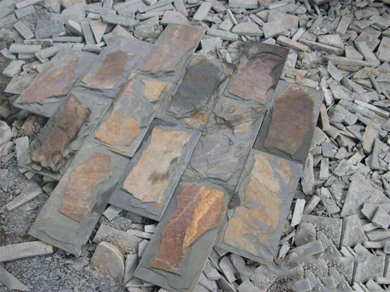 Hot selling natural grey slate stone cladding for wholesales