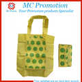 Non woven foldable shopping tote bag with snap closure